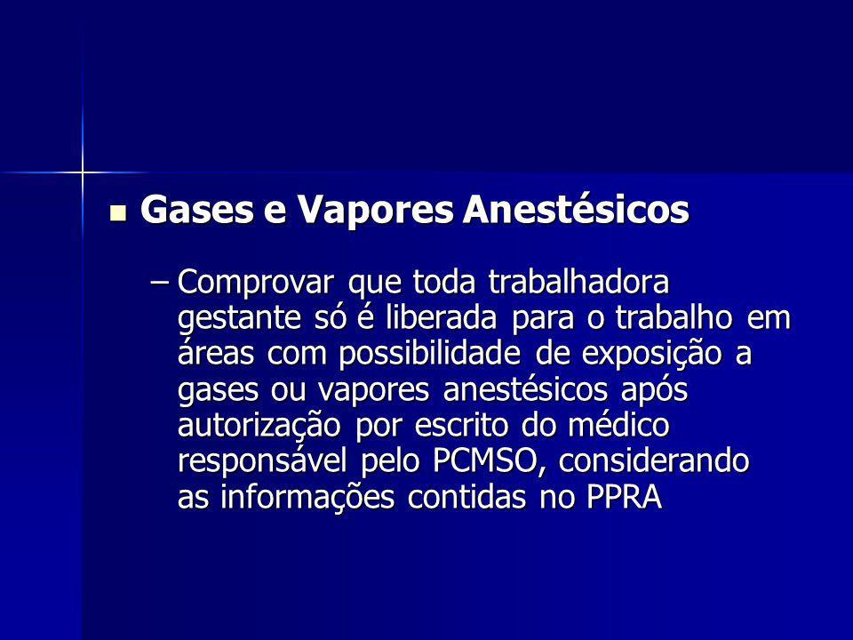 Gases e Vapores Anestésicos