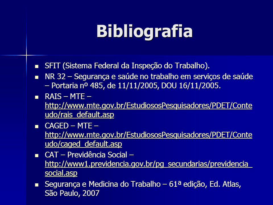 Bibliografia SFIT (Sistema Federal da Inspeção do Trabalho).