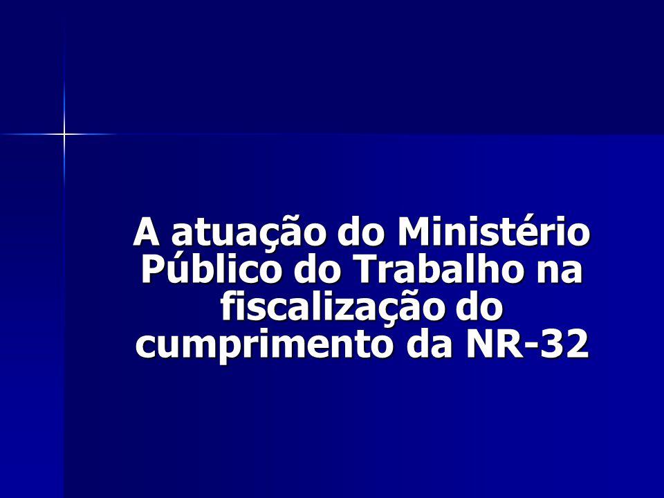 A atuação do Ministério Público do Trabalho na fiscalização do cumprimento da NR-32
