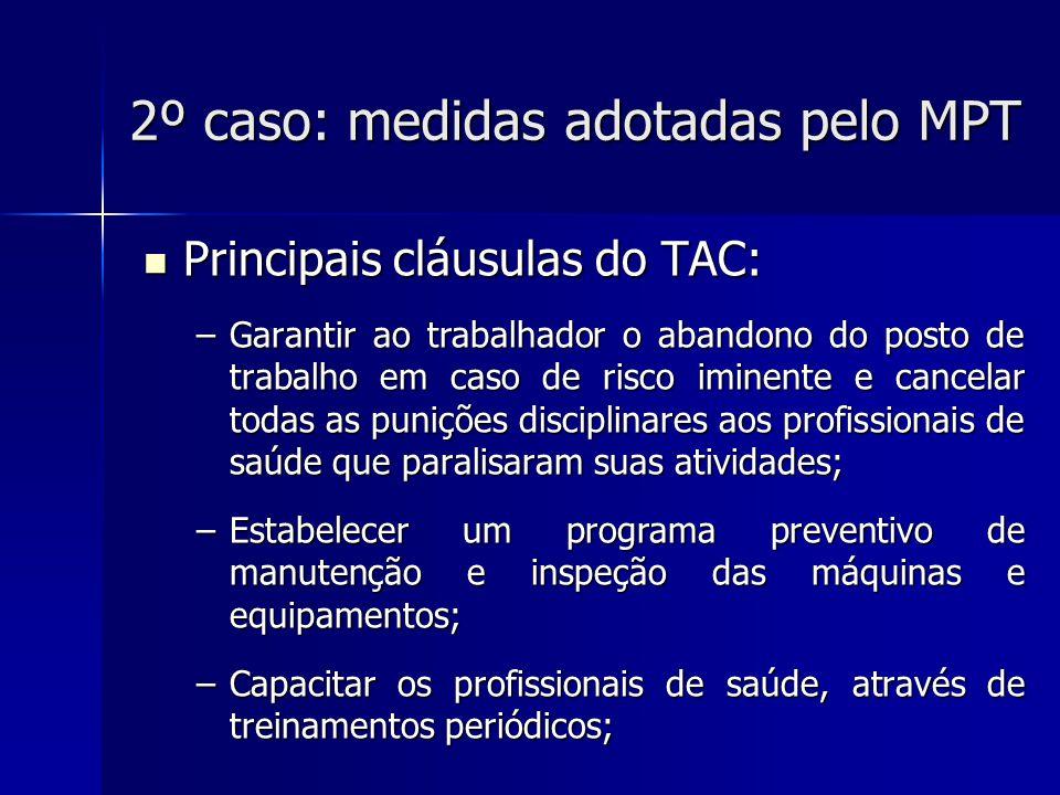 2º caso: medidas adotadas pelo MPT