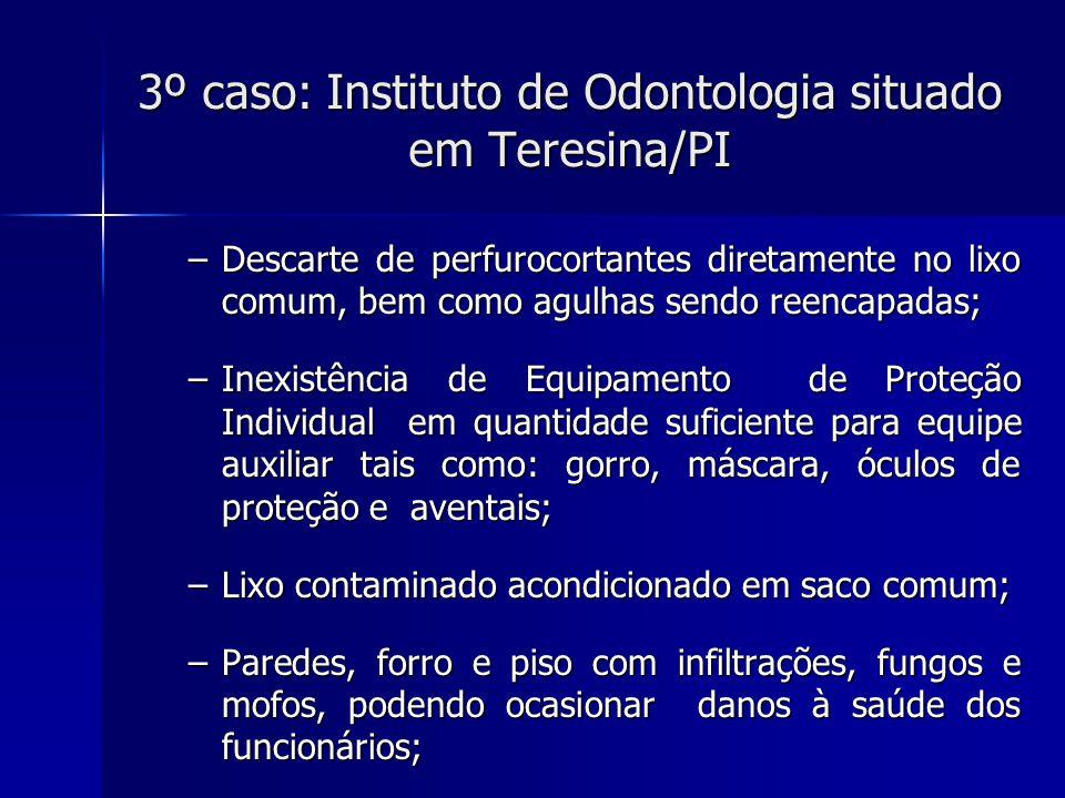 3º caso: Instituto de Odontologia situado em Teresina/PI