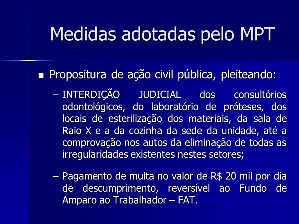 Medidas adotadas pelo MPT