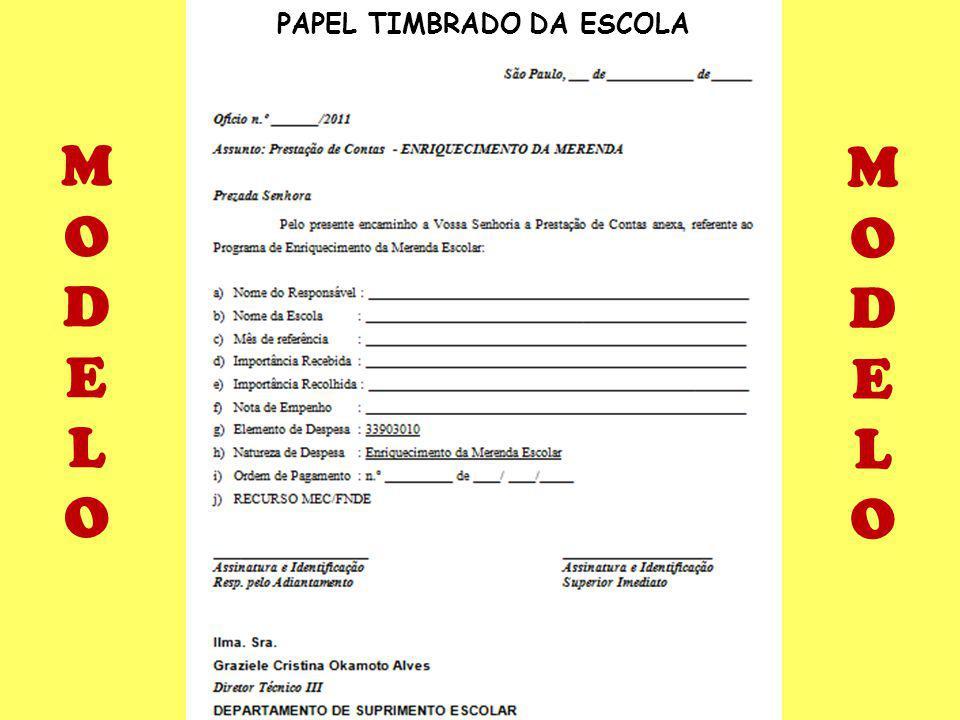 PAPEL TIMBRADO DA ESCOLA