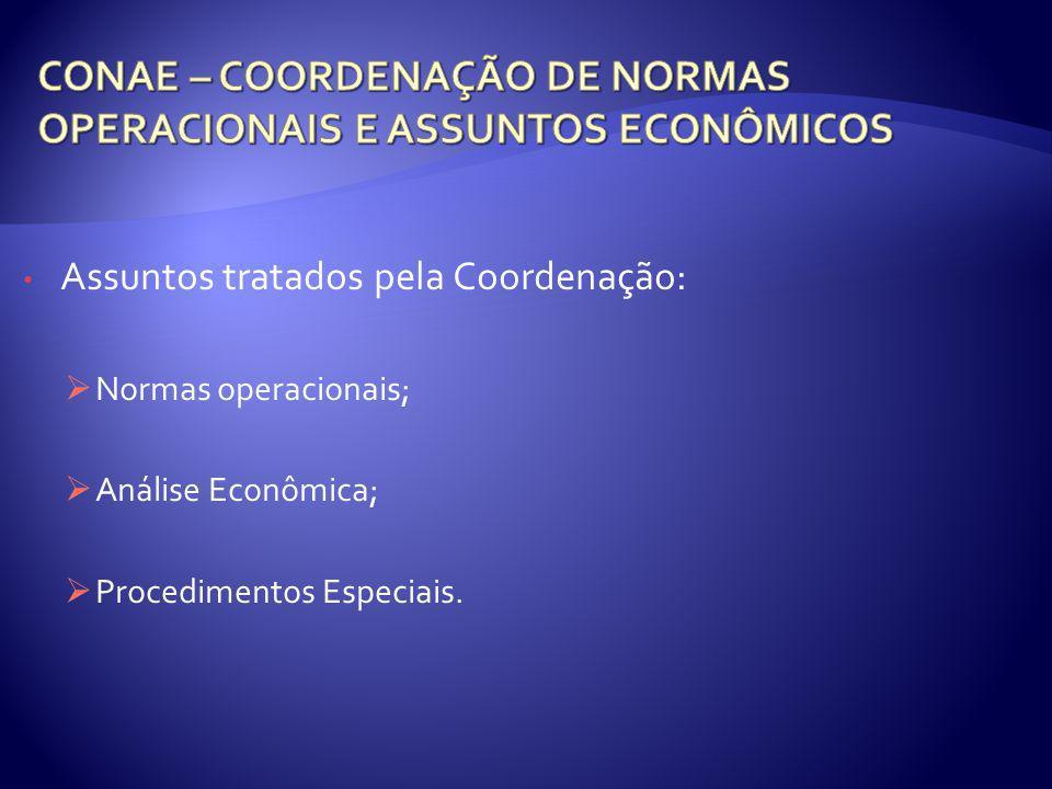 CONAE – COORDENAÇÃO DE NORMAS OPERACIONAIS E ASSUNTOS ECONÔMICOS