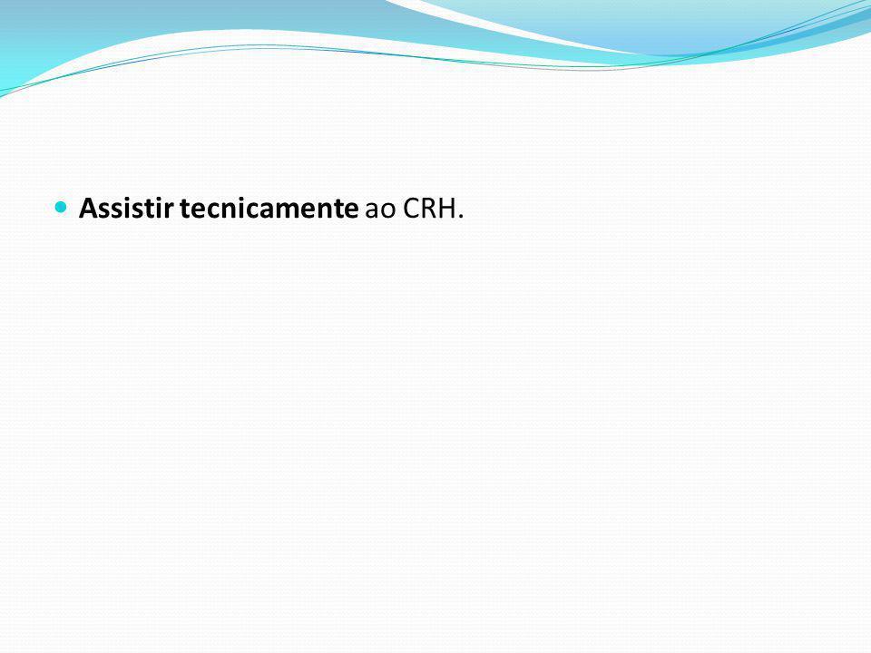 Assistir tecnicamente ao CRH.