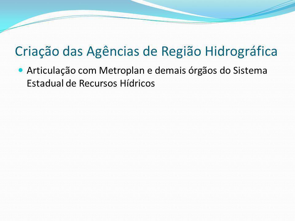 Criação das Agências de Região Hidrográfica