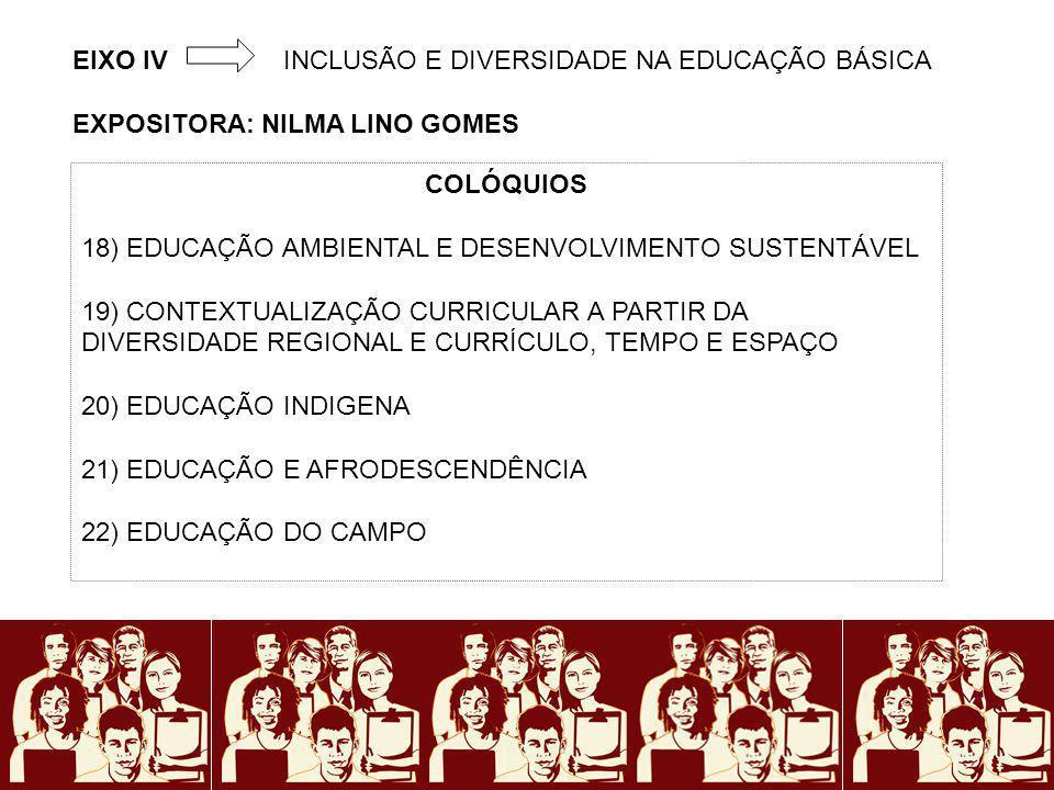 EIXO IV INCLUSÃO E DIVERSIDADE NA EDUCAÇÃO BÁSICA