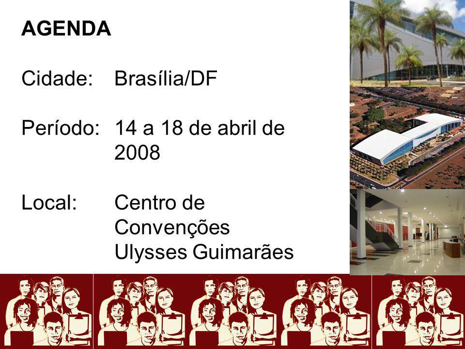 AGENDA Cidade: Brasília/DF. Período: 14 a 18 de abril de 2008.