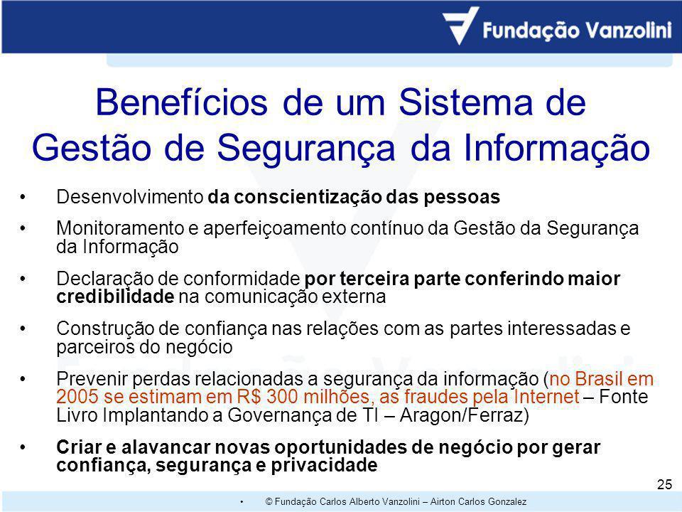 Benefícios de um Sistema de Gestão de Segurança da Informação