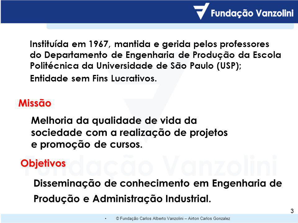 Instituída em 1967, mantida e gerida pelos professores do Departamento de Engenharia de Produção da Escola Politécnica da Universidade de São Paulo (USP);