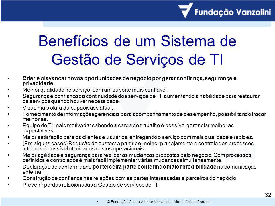 Benefícios de um Sistema de Gestão de Serviços de TI