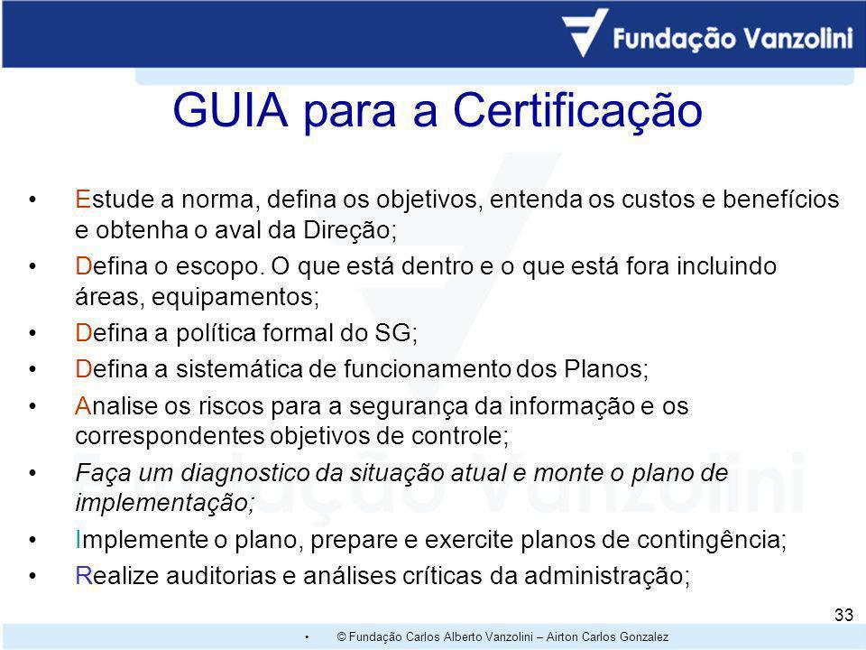 GUIA para a Certificação