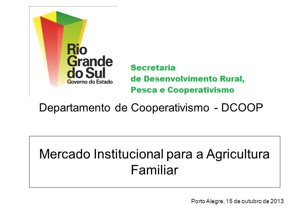 Mercado Institucional para a Agricultura Familiar