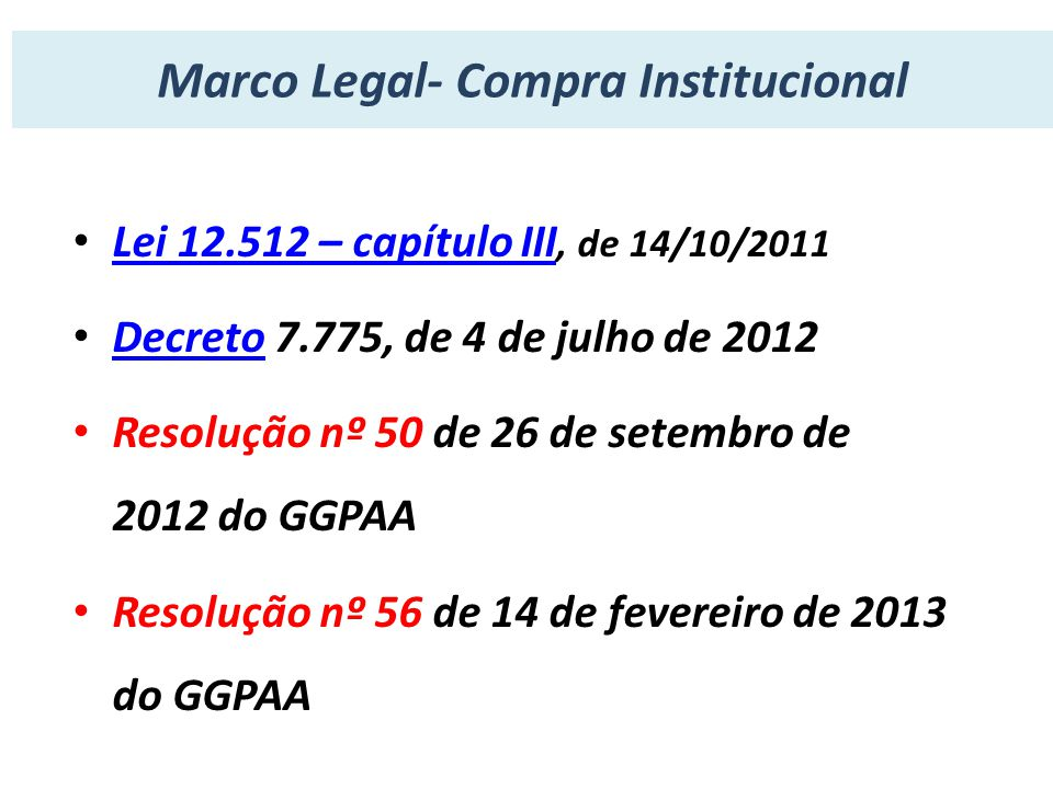 Marco Legal- Compra Institucional