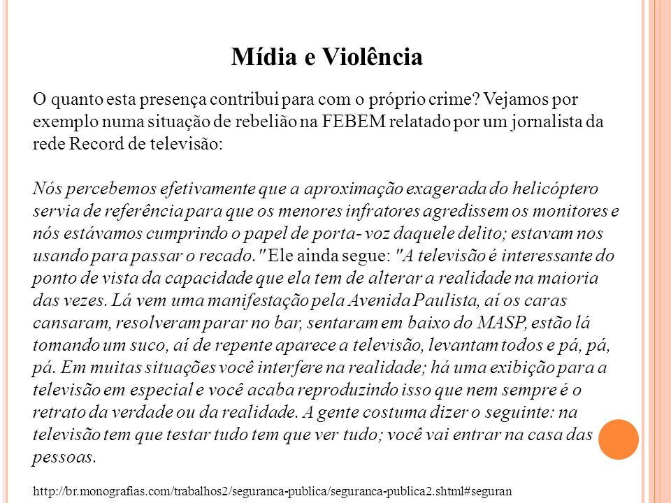 Mídia e Violência