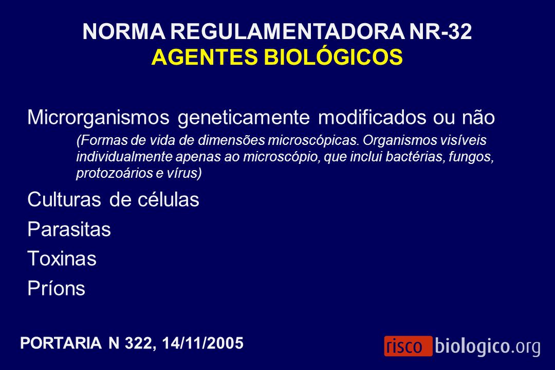 NORMA REGULAMENTADORA NR-32