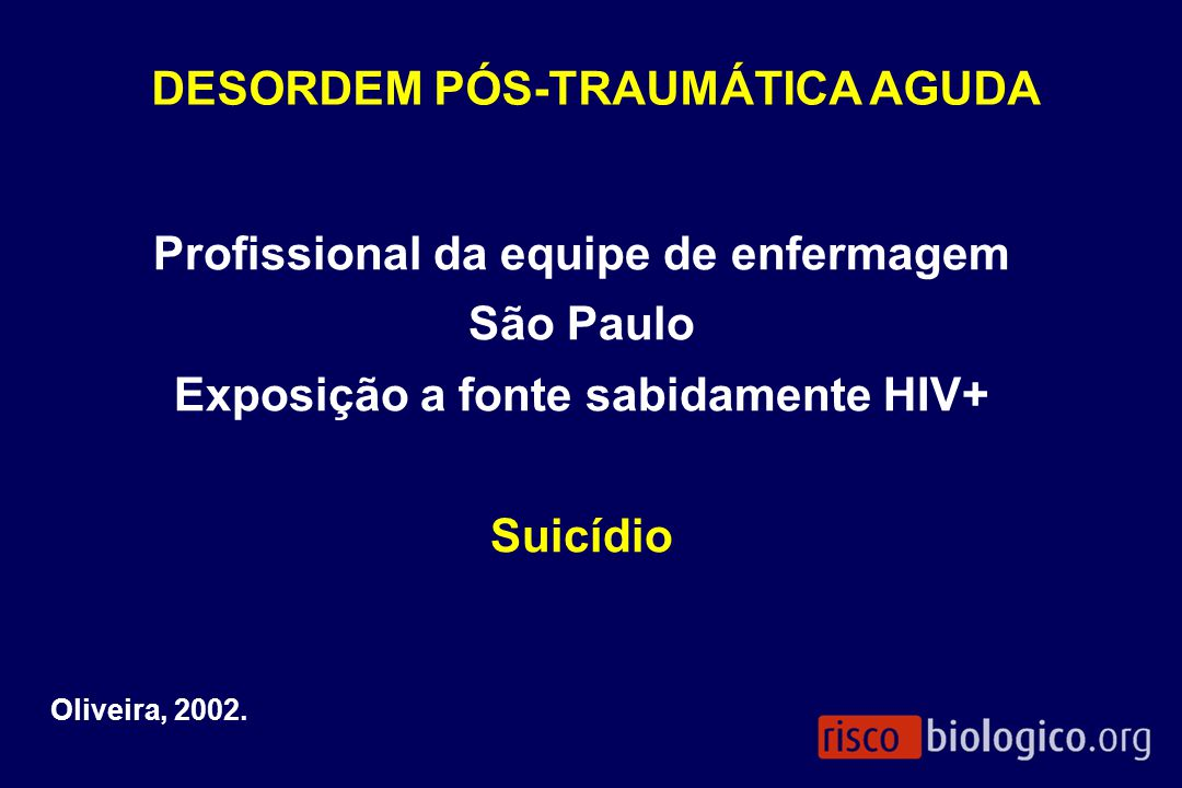 DESORDEM PÓS-TRAUMÁTICA AGUDA