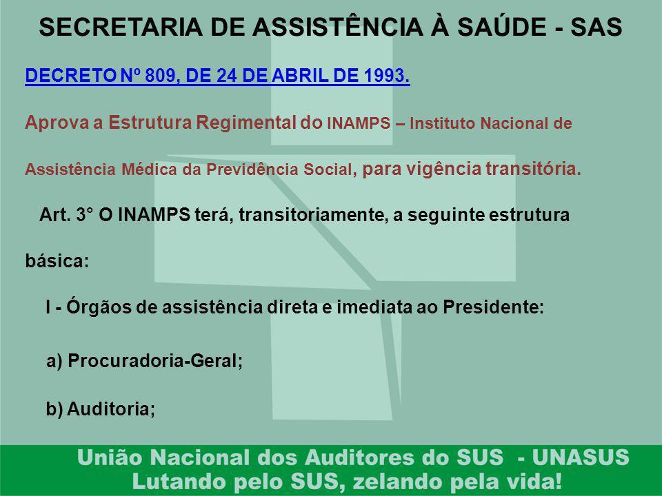 SECRETARIA DE ASSISTÊNCIA À SAÚDE - SAS