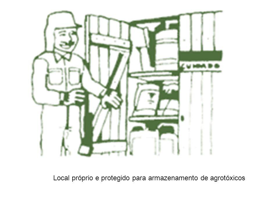 Local próprio e protegido para armazenamento de agrotóxicos