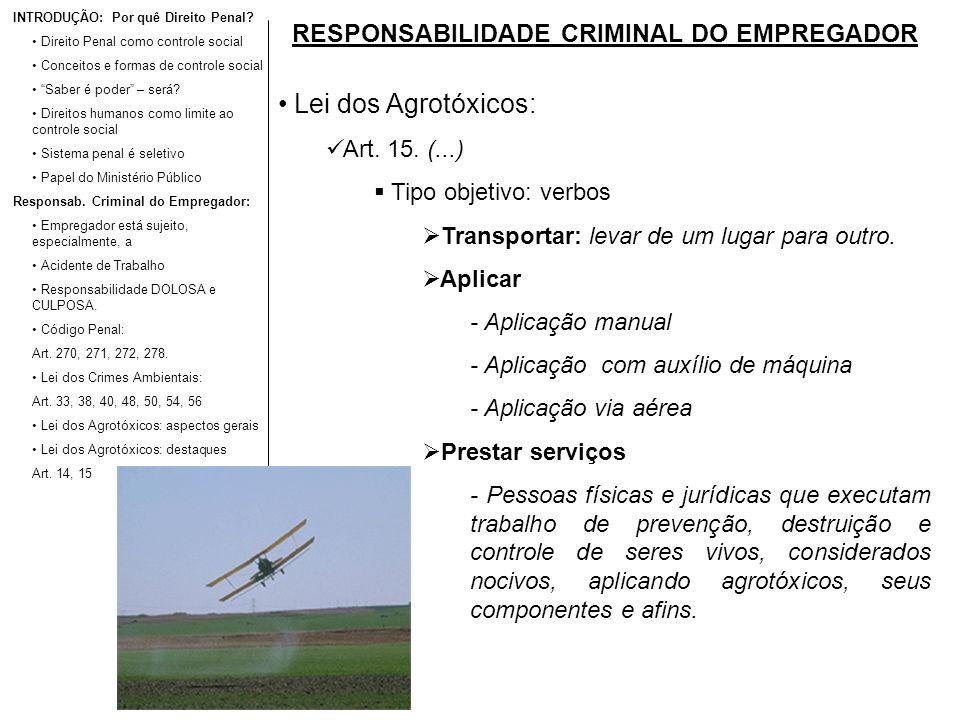 RESPONSABILIDADE CRIMINAL DO EMPREGADOR