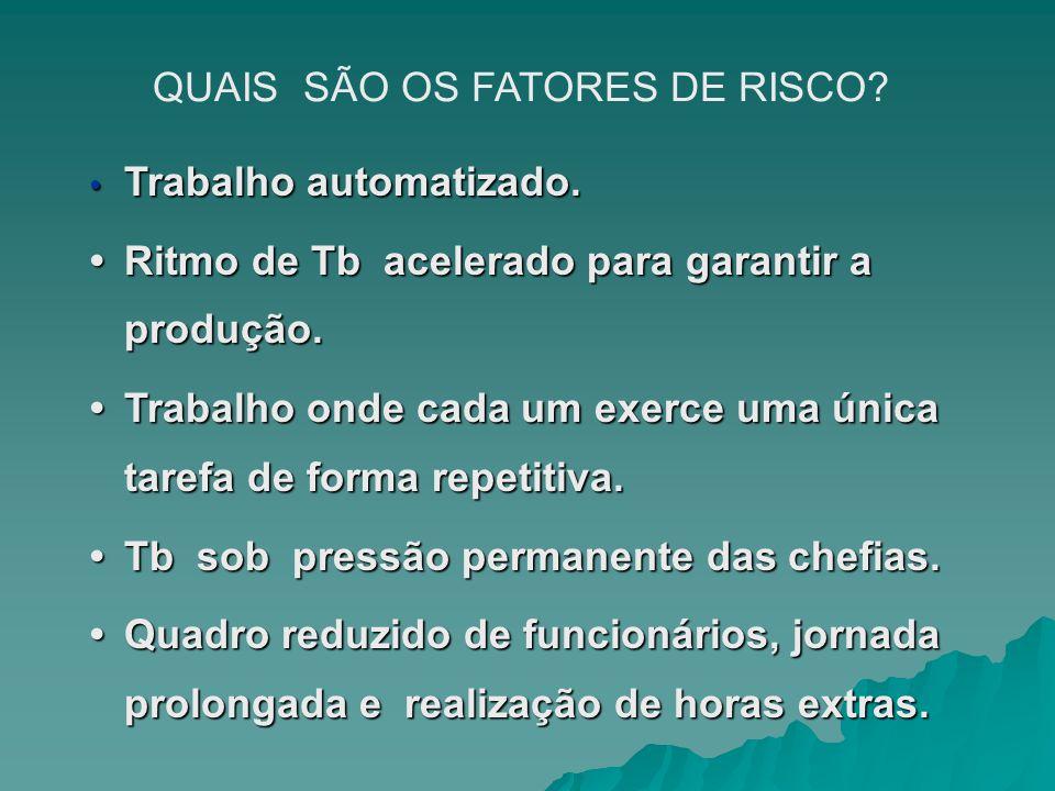 QUAIS SÃO OS FATORES DE RISCO