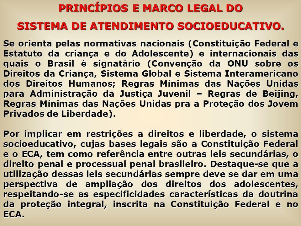 PRINCÍPIOS E MARCO LEGAL DO SISTEMA DE ATENDIMENTO SOCIOEDUCATIVO.
