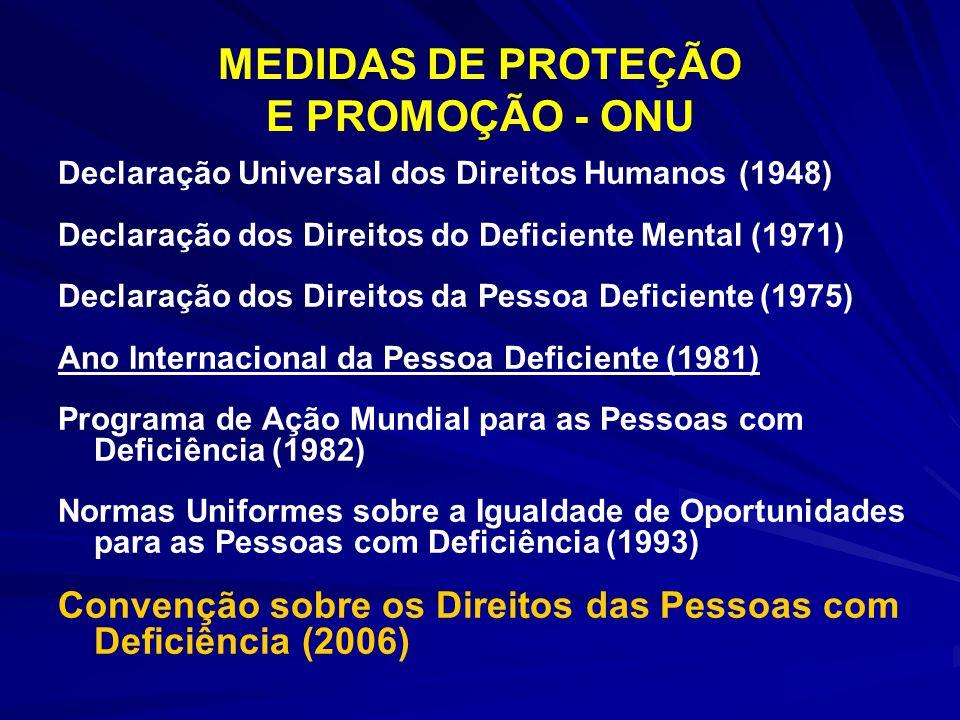 MEDIDAS DE PROTEÇÃO E PROMOÇÃO - ONU