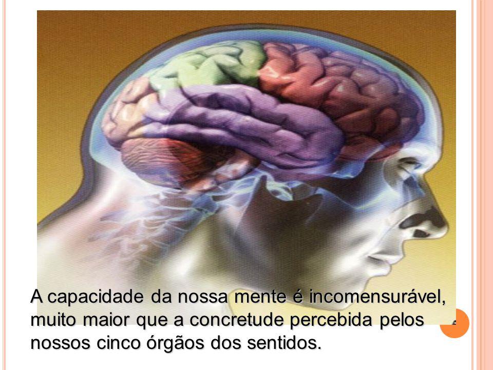 A capacidade da nossa mente é incomensurável,