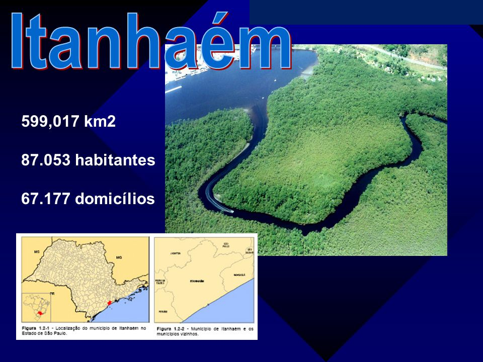Itanhaém 599,017 km2 87.053 habitantes 67.177 domicílios