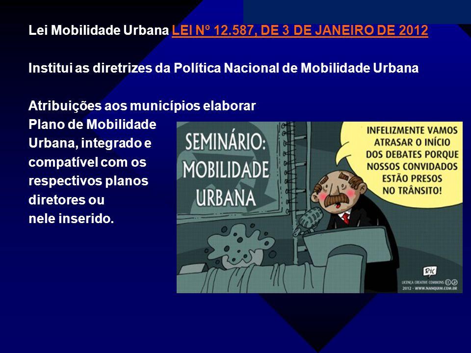 Lei Mobilidade Urbana LEI Nº 12.587, DE 3 DE JANEIRO DE 2012