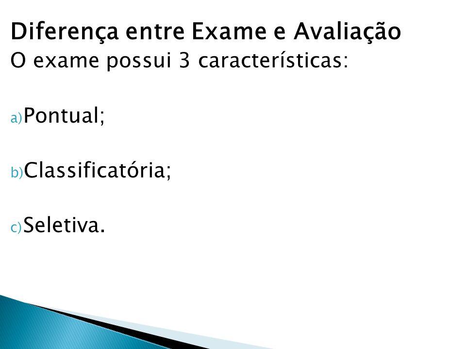 Diferença entre Exame e Avaliação