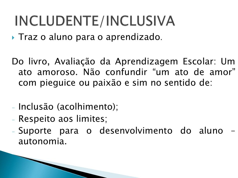 INCLUDENTE/INCLUSIVA