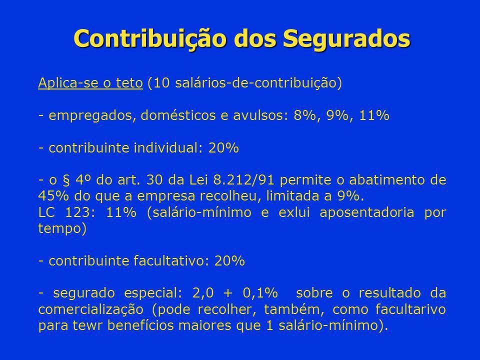 Contribuição dos Segurados
