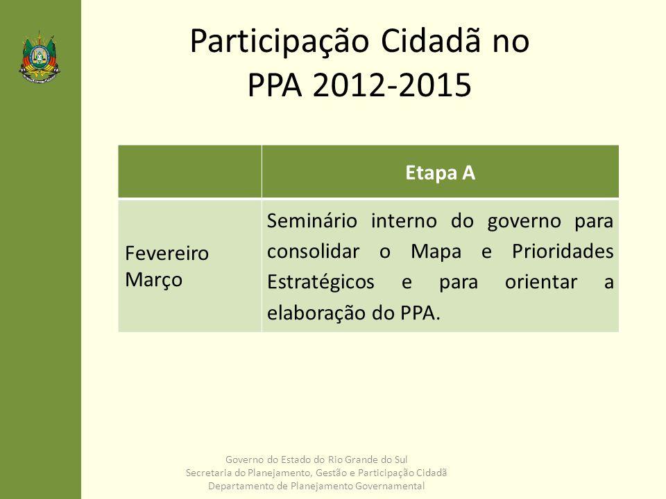 Participação Cidadã no PPA 2012-2015