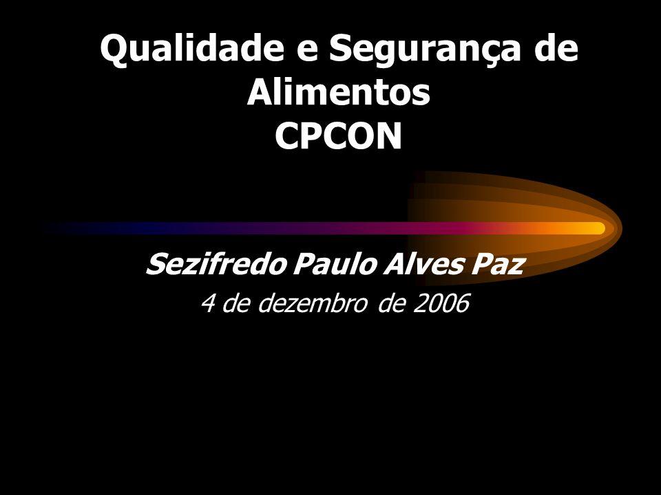 Qualidade e Segurança de Alimentos CPCON