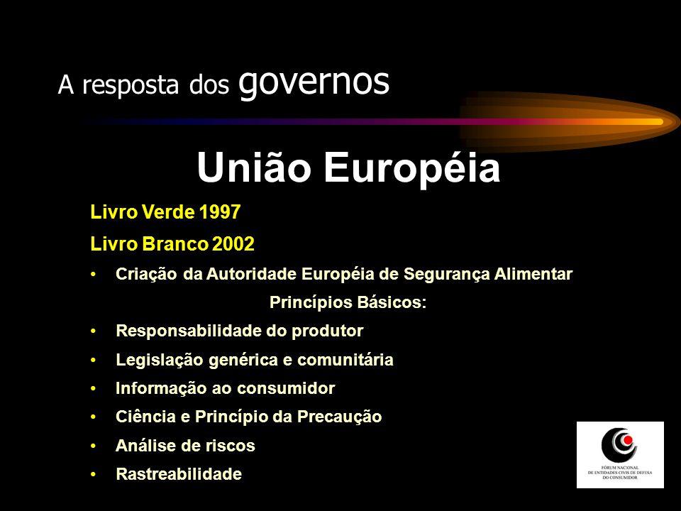 União Européia A resposta dos governos Livro Verde 1997