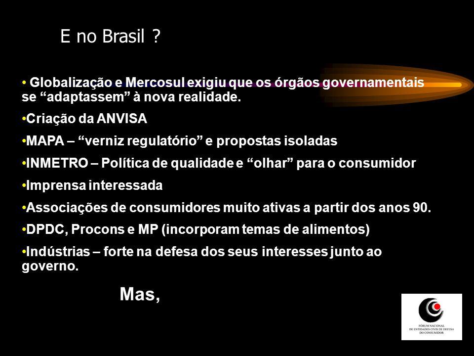 E no Brasil Globalização e Mercosul exigiu que os órgãos governamentais se adaptassem à nova realidade.
