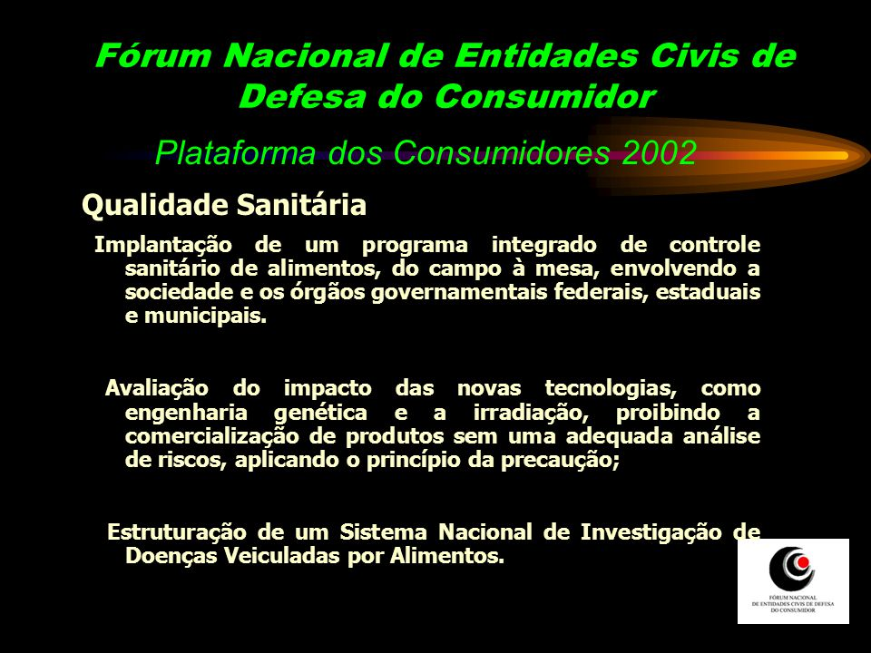 Fórum Nacional de Entidades Civis de Defesa do Consumidor