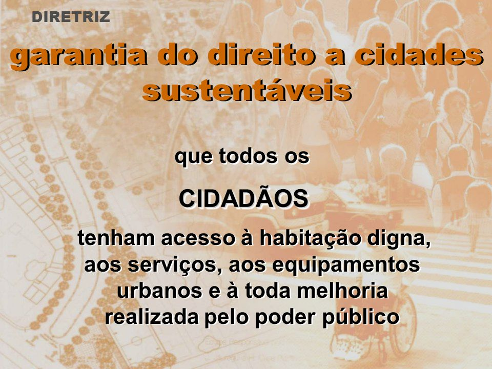 garantia do direito a cidades sustentáveis