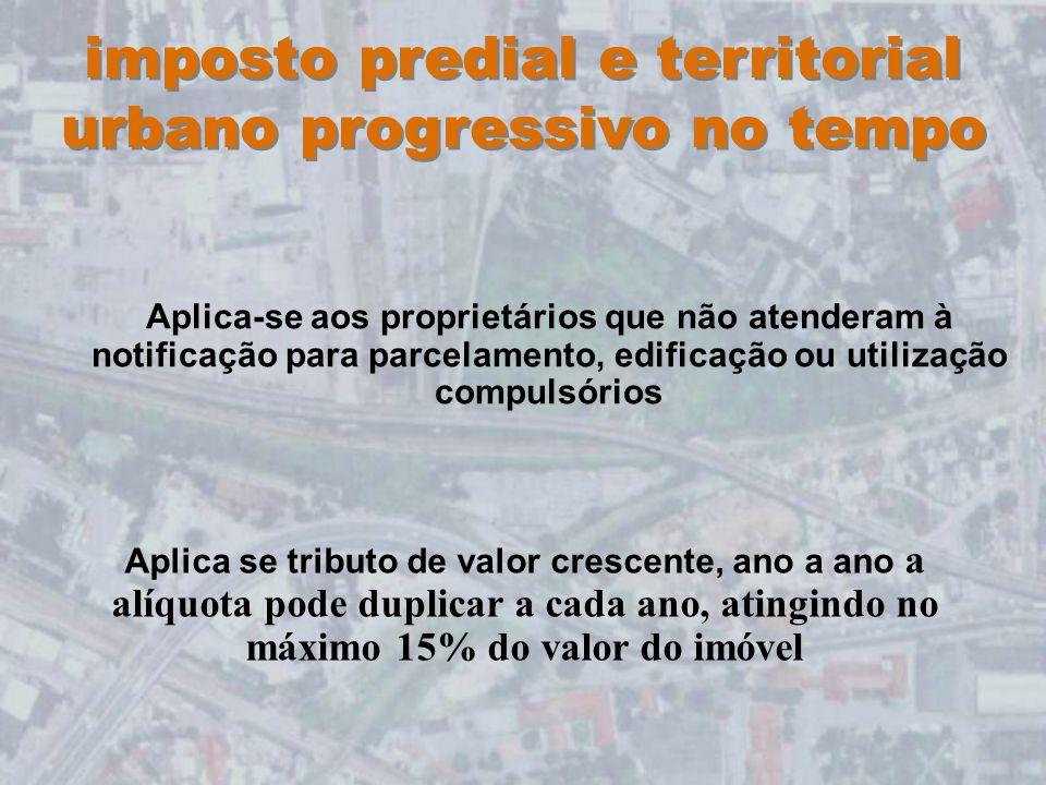 imposto predial e territorial urbano progressivo no tempo
