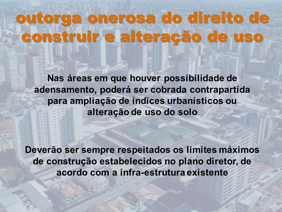 outorga onerosa do direito de construir e alteração de uso
