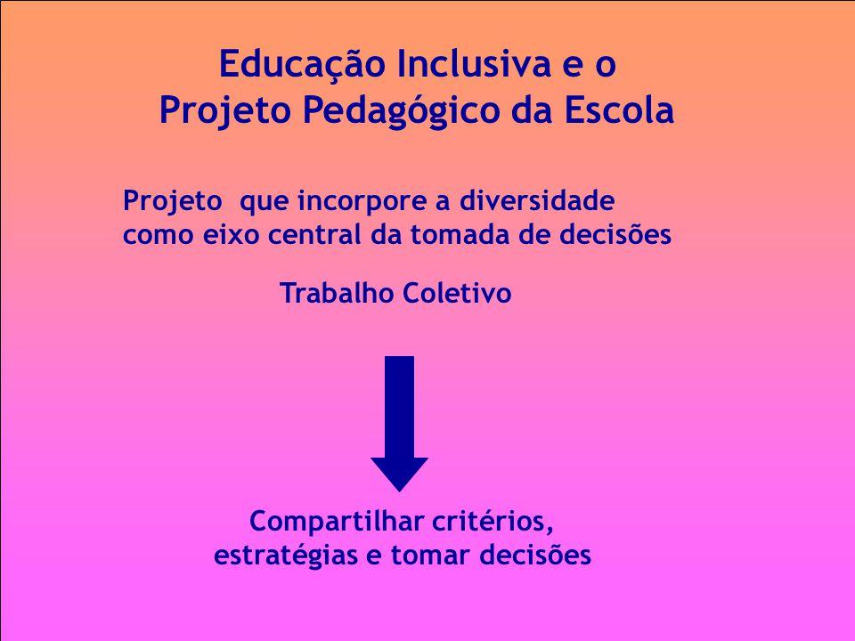 Educação Inclusiva e o Projeto Pedagógico da Escola