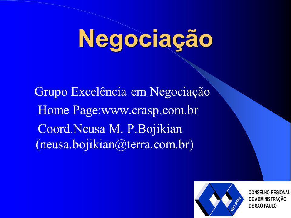 Negociação Grupo Excelência em Negociação Home Page:www.crasp.com.br