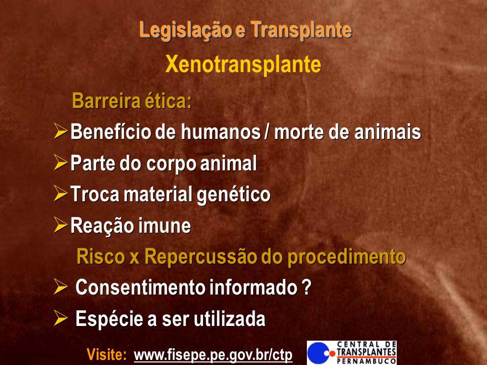 Xenotransplante Barreira ética: