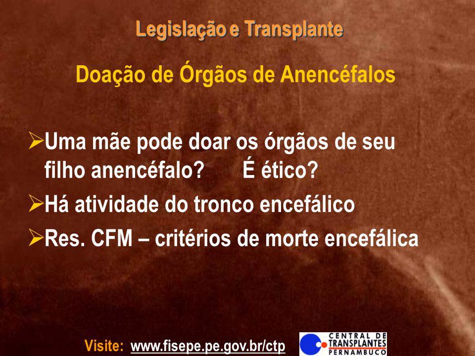 Doação de Órgãos de Anencéfalos