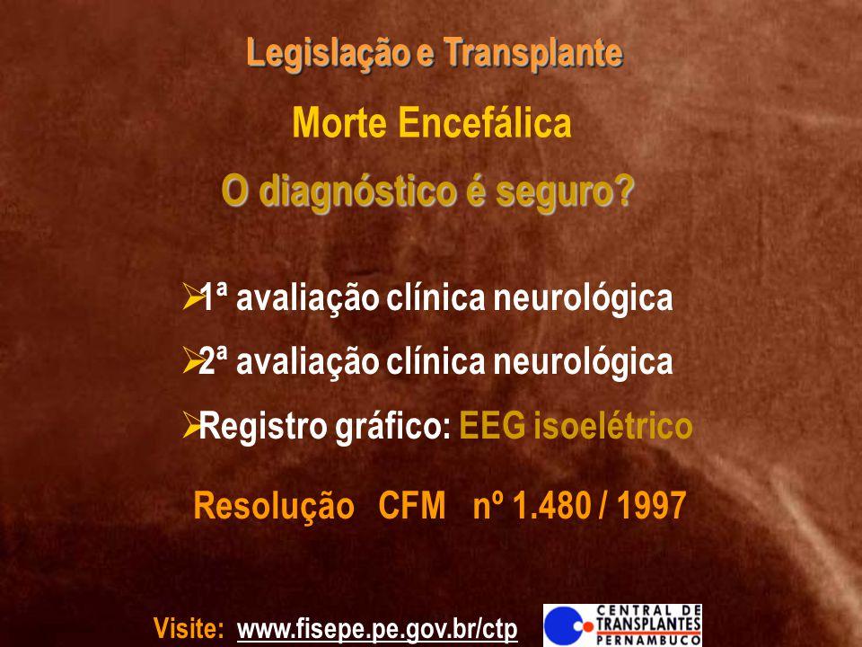 Morte Encefálica O diagnóstico é seguro