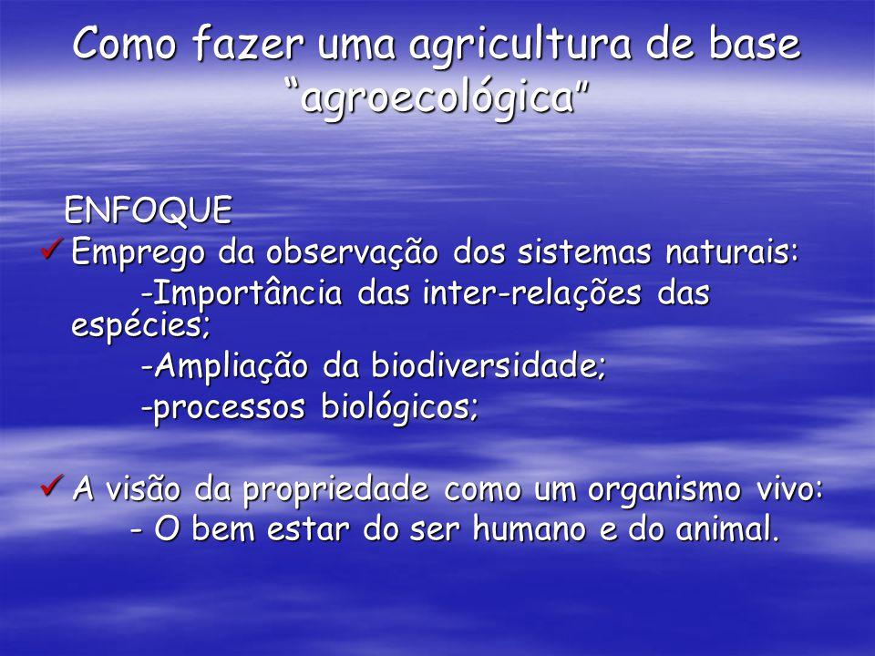 Como fazer uma agricultura de base agroecológica