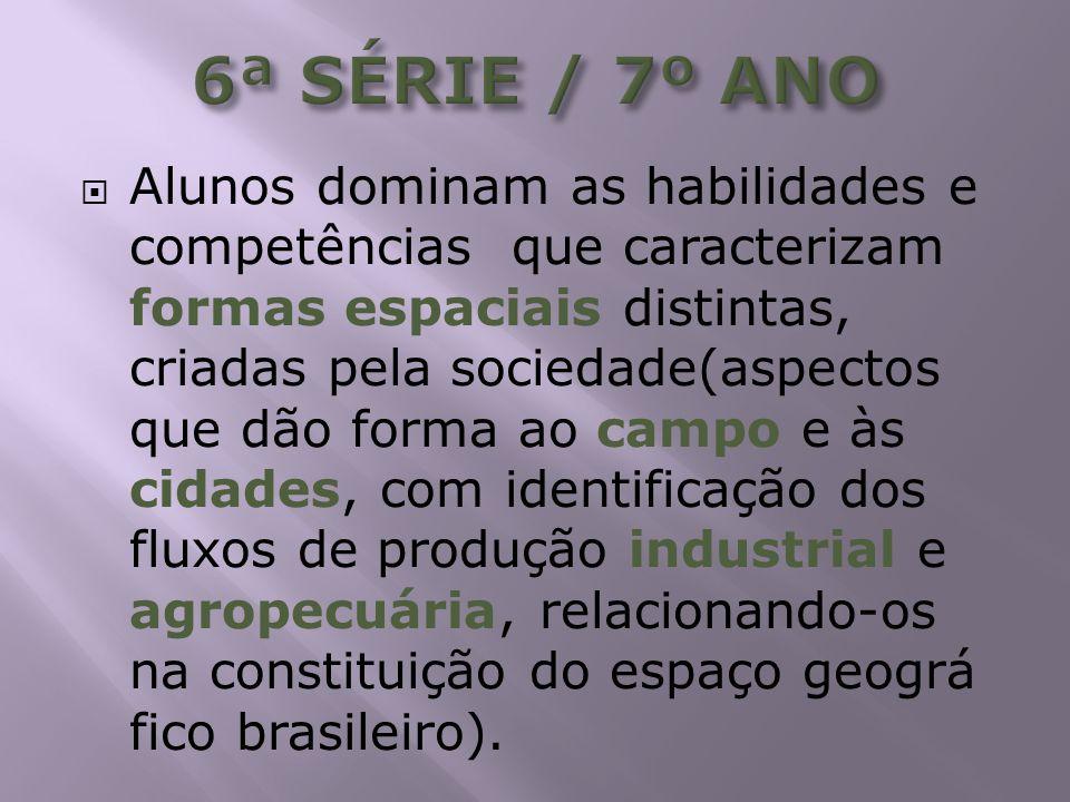 6ª SÉRIE / 7º ANO