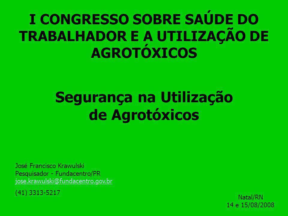 Segurança na Utilização de Agrotóxicos
