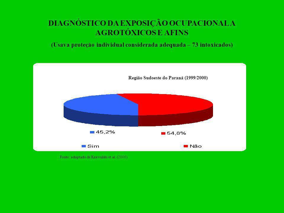 DIAGNÓSTICO DA EXPOSIÇÃO OCUPACIONAL A AGROTÓXICOS E AFINS
